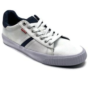 Levi's Low Top Lace Up Mens Sneaker White